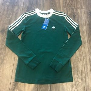 Adidas 3-stripe long sleeve Tee